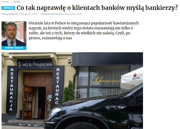 Co tak naprawdę oklientach banków myślą bankierzy?