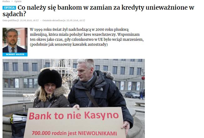 Co należy się bankom wzamian zakredyty unieważnione wsądach?